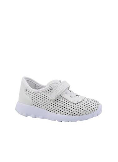 Kids A More Hool Tek Cırtlı Deri Unisex Çocuk Sneaker  Beyaz